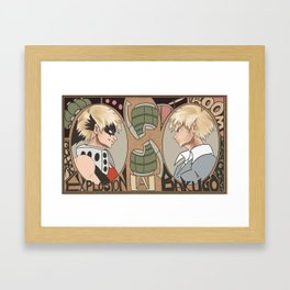 Art Nouveau style Bakugo Framed Art Print