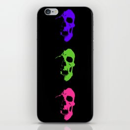 Skull 3x3 - Lime/Purple/Pink iPhone Skin