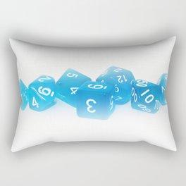 Blue Gaming Dice Rectangular Pillow