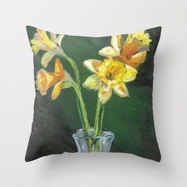 April Daffodils Throw Pillow