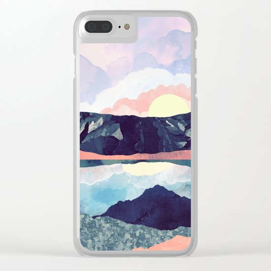 Lake Reflection Clear iPhone Case