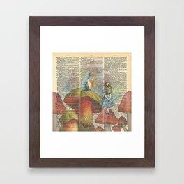 Alice In Wonderland - The Hookah Smoking Caterpillar Framed Art Print