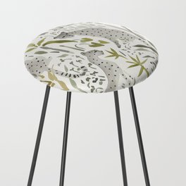 Grey Cheetahs Counter Stool