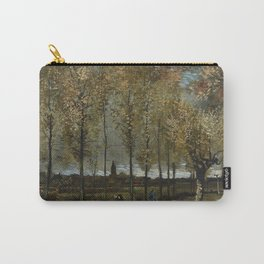 1885-Vincent van Gogh-Lane with Poplars-78x97 Carry-All Pouch