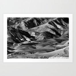 Driving across the Judean Desert Art Print