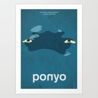 ponyo Art Prints featuring Ponyo by Fabio Castro