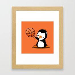 Basketball Penguin (2) Framed Art Print