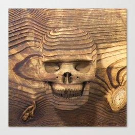 Wood Skull 01 Canvas Print