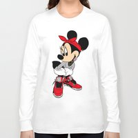 minnie mouse Long Sleeve T-shirts featuring MINNIE MOUSE AJ4 by EA88
