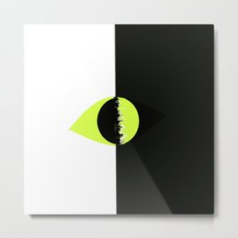 Eye- Onyx Metal Print
