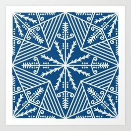 Traditional pysanky style lines pattern Art Print