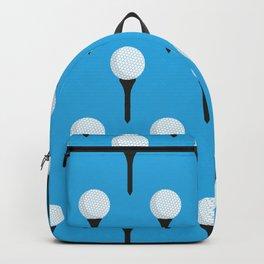 Golf Ball & Tee Pattern (Light Blue) Backpack