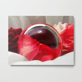 Red Rose Swirl, Mother's Day, Valentine's Day, Anniversary Art Print, Metal Print