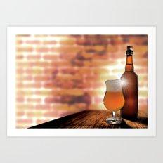 Belgian Beer Art Print