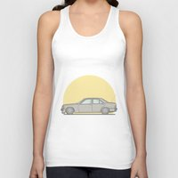mercedes Tank Tops featuring Mercedes-Benz 190E 2.5 Cosworth vector illustration by Underground Worm