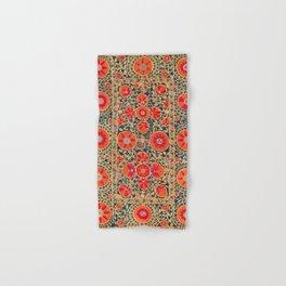 Kermina Suzani Uzbekistan Print Hand & Bath Towel