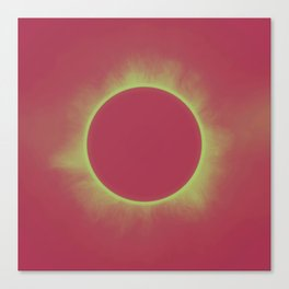 Solar Eclipse in Contrast Canvas Print