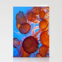 jelly fish Stationery Cards featuring Jelly Fish by Shannon McCullough-Wight
