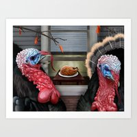 thanksgiving Art Prints featuring Thanksgiving by Stevie Ray Thompson