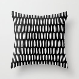 Classy Handpainted Stripes Pattern Black, Scandinavian Design Deko-Kissen