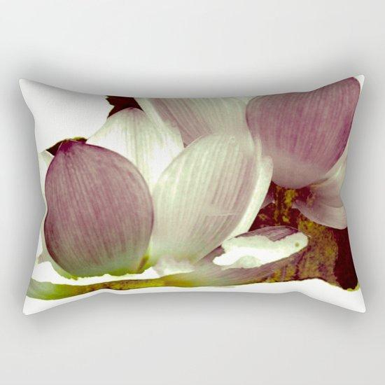 lotus and branch Rectangular Pillow