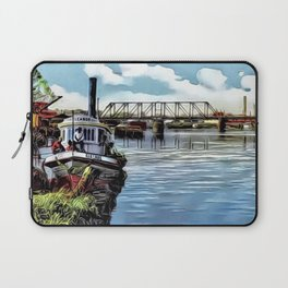 Neches River Scene, Beaumont, Texas ca 1910s Laptop Sleeve