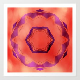 Bold mandala with bokeh Art Print