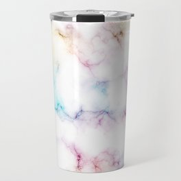 Rainbow Marble Pattern Travel Mug