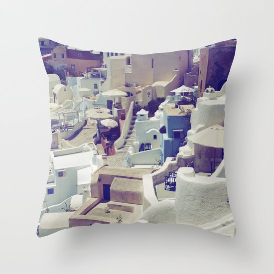 Oia, Santorini, Greece Throw Pillow