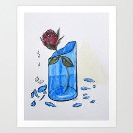 Broke Promise Rose Art Print