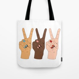Peace Hands Tote Bag