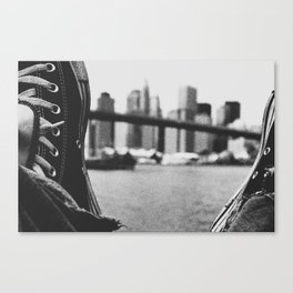 laced up Canvas Print