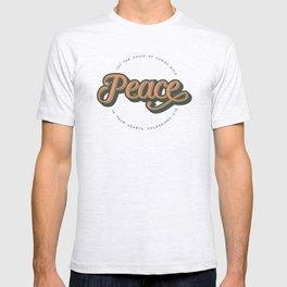 """PEACE"" Bible Verse Print T-shirt"