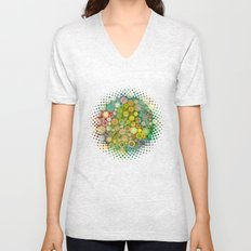 Leaves and Dots Unisex V-Neck