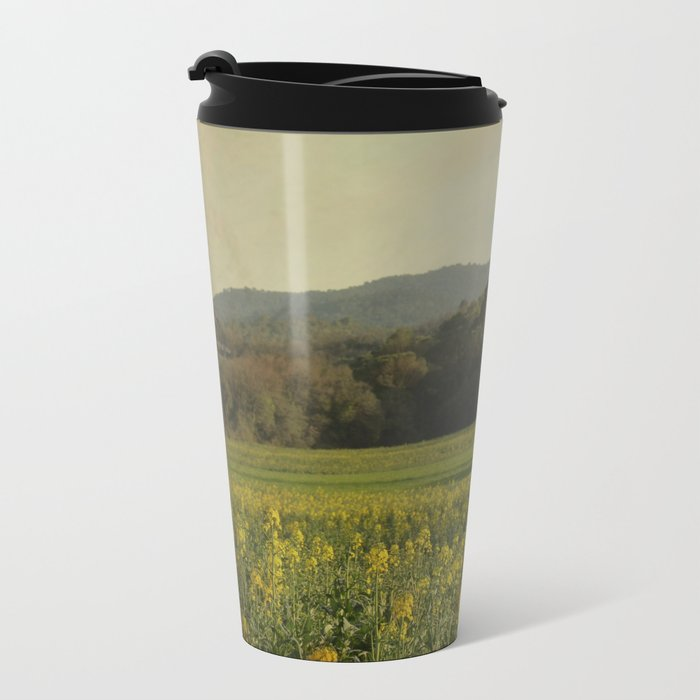 Once Upon a Time a Field of Flowers Metal Travel Mug
