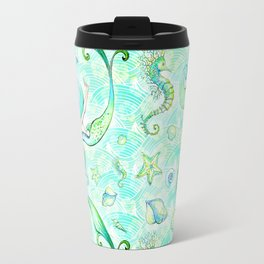 Mermaid Pattern 01 Travel Mug
