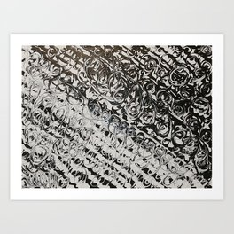 Black & White Swirls Art Print