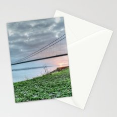 Sunset at the Humber Bridge Stationery Cards