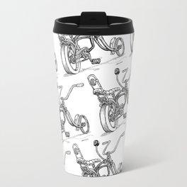 Cartoon Retro Mod 8-Ball Muscle Bike Bicycle Stingray Travel Mug