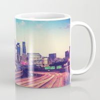 atlanta Mugs featuring Atlanta Downtown by GF Fine Art Photography
