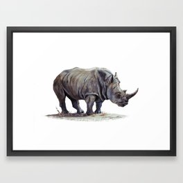 Rhinoceros painting Framed Art Print
