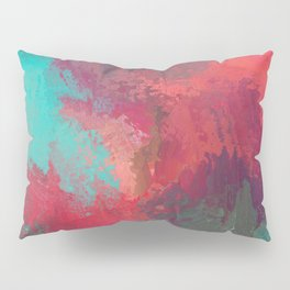 Passionate Firestorm Abstract Painting Pillow Sham