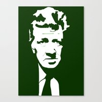 david lynch Canvas Prints featuring Lynch by Ypsilon_bottega