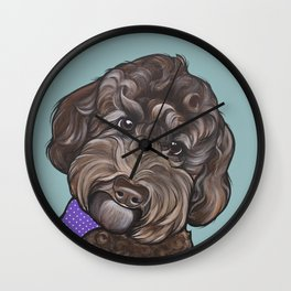 Maddie the Doodle Wall Clock