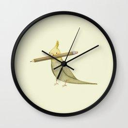 Cockatiel & Pencil Wall Clock