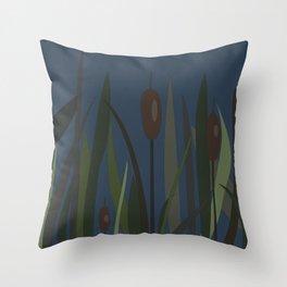 Reed On The Lake Throw Pillow