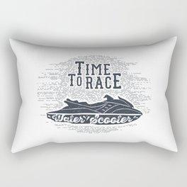 Time To Race. Water Scooter Rectangular Pillow