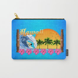 Hawaiian Surfing Carry-All Pouch