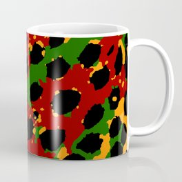Cheetah Spots in Red, Yellow and Green Coffee Mug