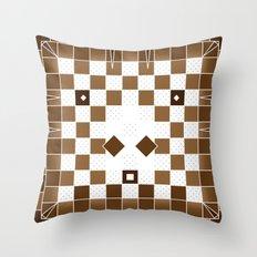 Pixel Donkey Throw Pillow